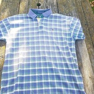 Vintage 90's Tommy Hilfiger Plaid Crest Polo